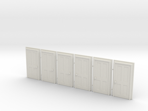 Door Type 5 - 900 X 2000 X 6 in White Natural Versatile Plastic: 1:87