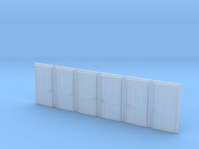 Door Type 5 - 900 X 2000 X 6 in Smooth Fine Detail Plastic: 1:148