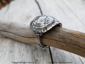 Turtle Ring in Natural Silver: 7 / 54
