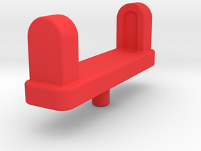 Leg Gun Adapter in Red Processed Versatile Plastic