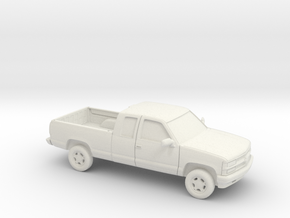 1/87 1994 Chevrolet Extended Cab in White Natural Versatile Plastic
