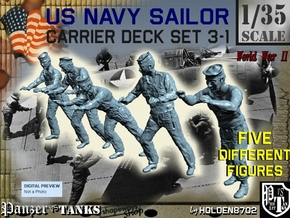 1-35 US Navy Carrier Deck Set 3-1 in Smooth Fine Detail Plastic