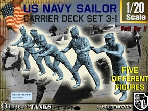1-20 US Navy Carrier Deck Set 3-1 in White Natural Versatile Plastic