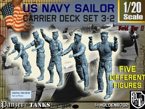 1-20 US Navy Carrier Deck Set 3-2 in White Natural Versatile Plastic
