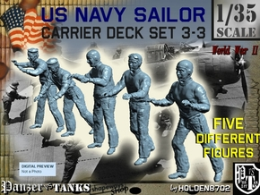 1-35 US Navy Carrier Deck Set 3-3 in Smooth Fine Detail Plastic