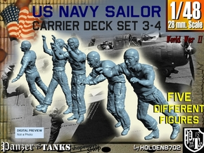1-48 US Navy Carrier Deck Set 3-4 in Smooth Fine Detail Plastic