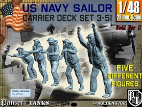 1-48 US Navy Carrier Deck Set 3-51 in Frosted Ultra Detail