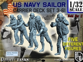 1-32 US Navy Carrier Deck Set 3-61 in Frosted Ultra Detail
