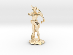 Tiefling Ranger with Bow in 14k Gold Plated Brass