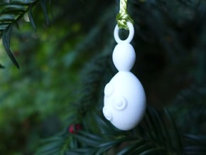 Saccharomyces Ornament  in White Strong & Flexible Polished