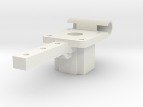 Mounting Block V2.stl in White Strong & Flexible