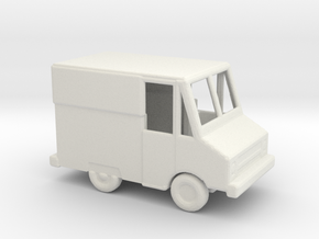 1/144 Scale Crew Van in White Natural Versatile Plastic