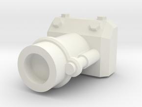 Gaming tank demolition cannon in White Natural Versatile Plastic