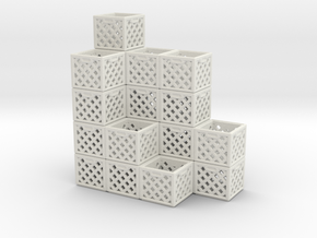 Milk Crate Stack 1 in White Natural Versatile Plastic
