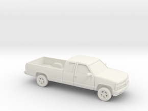 1/87 1994 Chevrolet Silverado Ext. Cab Long Be in White Strong & Flexible
