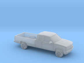 1/87 1994 Chevrolet Silverado Ext. Cab Long Be in Smooth Fine Detail Plastic