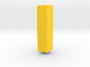 Tower of Pimps (Top Module) in Yellow Processed Versatile Plastic