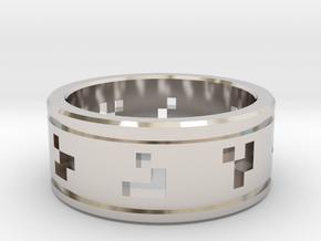 Glider Ring in Rhodium Plated Brass: 9 / 59