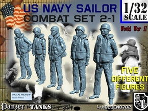 1-32 US Navy Sailors Combat SET 2-1 in Frosted Ultra Detail