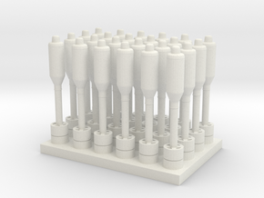 1/72 Rockets for Hedgehog Thrower MK10 in White Strong & Flexible: 1:72