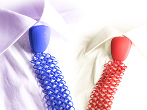Debate-Tie Size L in Blue Processed Versatile Plastic: Large
