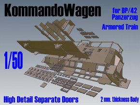 1-50 Sep-Parts K-Wagen For BP-42 in White Strong & Flexible