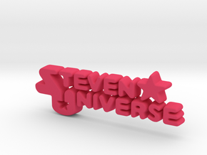 Steven Universe Logo in Pink Strong & Flexible Polished