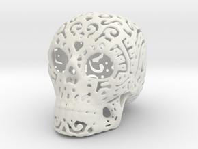 Skull Fine Pattern in White Natural Versatile Plastic
