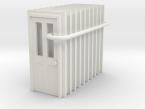 Door Type 6 - 810 X 2000 X 10 in White Natural Versatile Plastic: 1:87