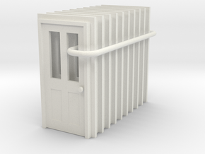 Door Type 6 - 900 X 2000 X 10 in White Strong & Flexible: 1:87