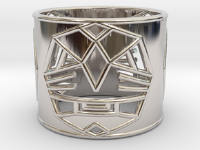 3 Fearless Warriors ring size 6 (M) in Rhodium Plated Brass