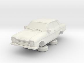 1-76 Escort Mk 1 4 Door Standard in White Natural Versatile Plastic