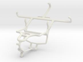 Controller mount for PS4 & Microsoft Lumia 550 in White Natural Versatile Plastic
