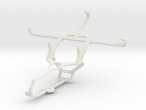 Controller mount for Steam & Microsoft Lumia 950 D in White Natural Versatile Plastic
