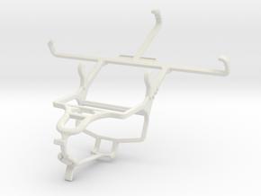Controller mount for PS4 & Motorola Droid Maxx 2 in White Natural Versatile Plastic
