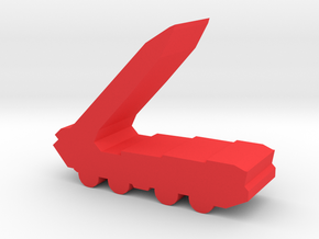Game Piece, Red Force Missile Launcher in Red Processed Versatile Plastic