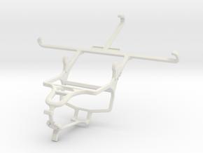 Controller mount for PS4 & Motorola Moto Z Play in White Natural Versatile Plastic