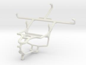 Controller mount for PS4 & Panasonic Eluga I2 (201 in White Natural Versatile Plastic