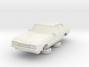1-87 Ford Capri Mk2 3L in White Natural Versatile Plastic