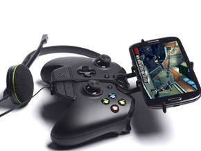 Xbox One controller & chat & Plum Check LTE - Fron in Black Natural Versatile Plastic