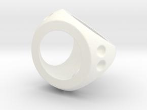 Easy Roll D4 in White Processed Versatile Plastic