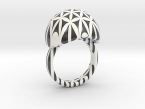 VESICA PISCIS Ring Nº26 in Glossy Full Color Sandstone