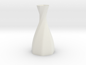 Twisted Vase in White Natural Versatile Plastic