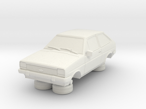 1-87 Ford Fiesta Mk1 Standard in White Natural Versatile Plastic