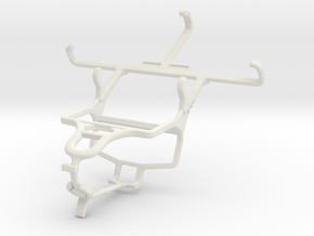 Controller mount for PS4 & verykool s4007 Leo IV in White Natural Versatile Plastic
