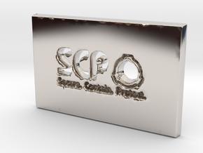 SCP Slab in Rhodium Plated Brass