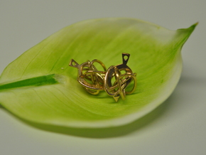 Knot-leaf in Polished Brass