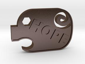 PiggyHope - F**K SUICIDE in Polished Bronze Steel