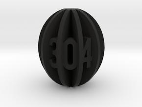 Spheroid Envelope dice Set in Black Natural Versatile Plastic: d10