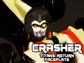 Gobots Crasher Face (Titans Return) in Smooth Fine Detail Plastic